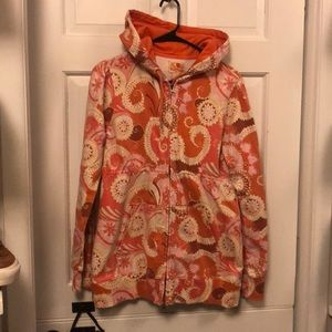 Lucky Brand synced waist hooded paisley sweatshirt